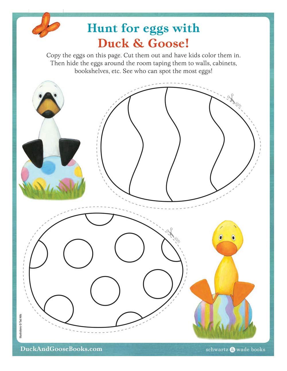 Duck and Goose Easter Egg Hunt Activity