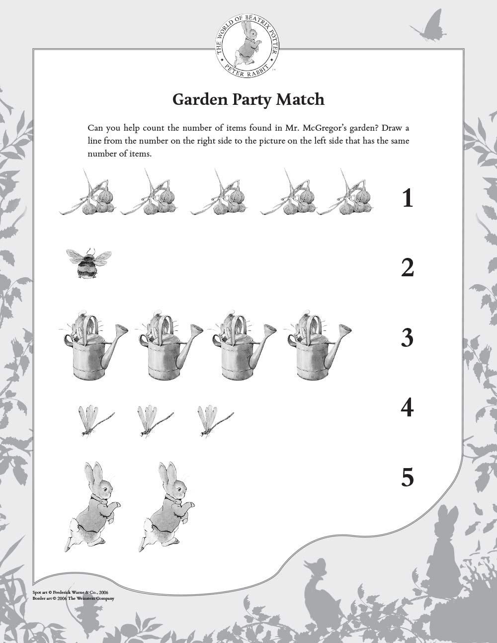 Beatrix Potter Activities