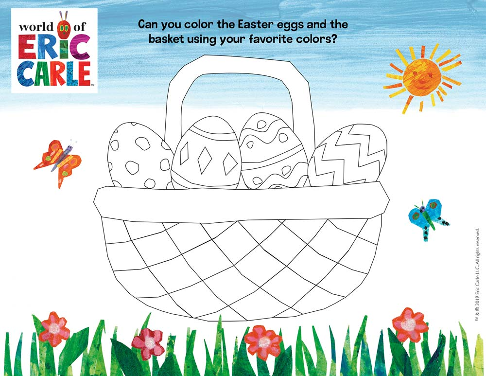 The Very Hungry Caterpillar Easter Coloring Page